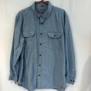 Carhartt Men's Button Down shirt sz XL light blue
